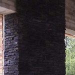 En mur muret af et murerfirma i Esbjerg